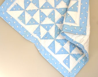 Blue Sheep Baby Quilt