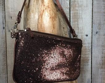 Glitter Wallet Wristlet  - chocolate handbags, bag - Small Wristlet Clutch Wallet Purses - Small Purses, Christmas Her