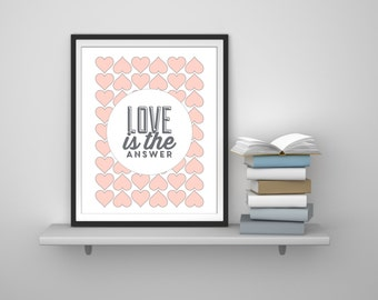 Hearts Print - Love Print - Heart Wall Art - Heart Wall Decor - Love Art - Romantic Print - Love Wall Art - Love Wall Decor