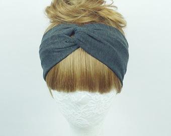 Regular headband, Jersey headband, Women's headband, Twist turban, knot headband, yoga headband, headpiece