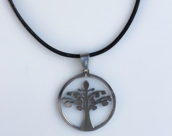 Stainless Steel Tree of Life Necklace, Male Jewelry, Men Jewelry, Family Tree Necklace