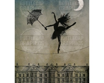 Original Art Print / Postcard - Highwire