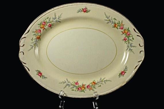 Platter Homer Laughlin Eggshell Georgian Cashmere
