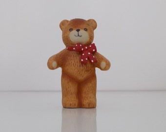 1980 Lucy and Me Porcelain Figurine Red Bow Bear Standing