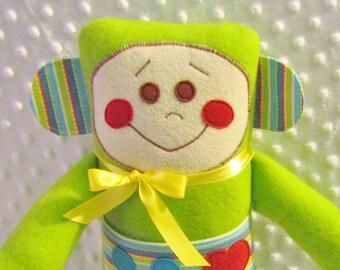 CUTIE-BOT MIKEY  Handmade 24 inch stuffed robot plushie, toddler boy gift, baby shower gift