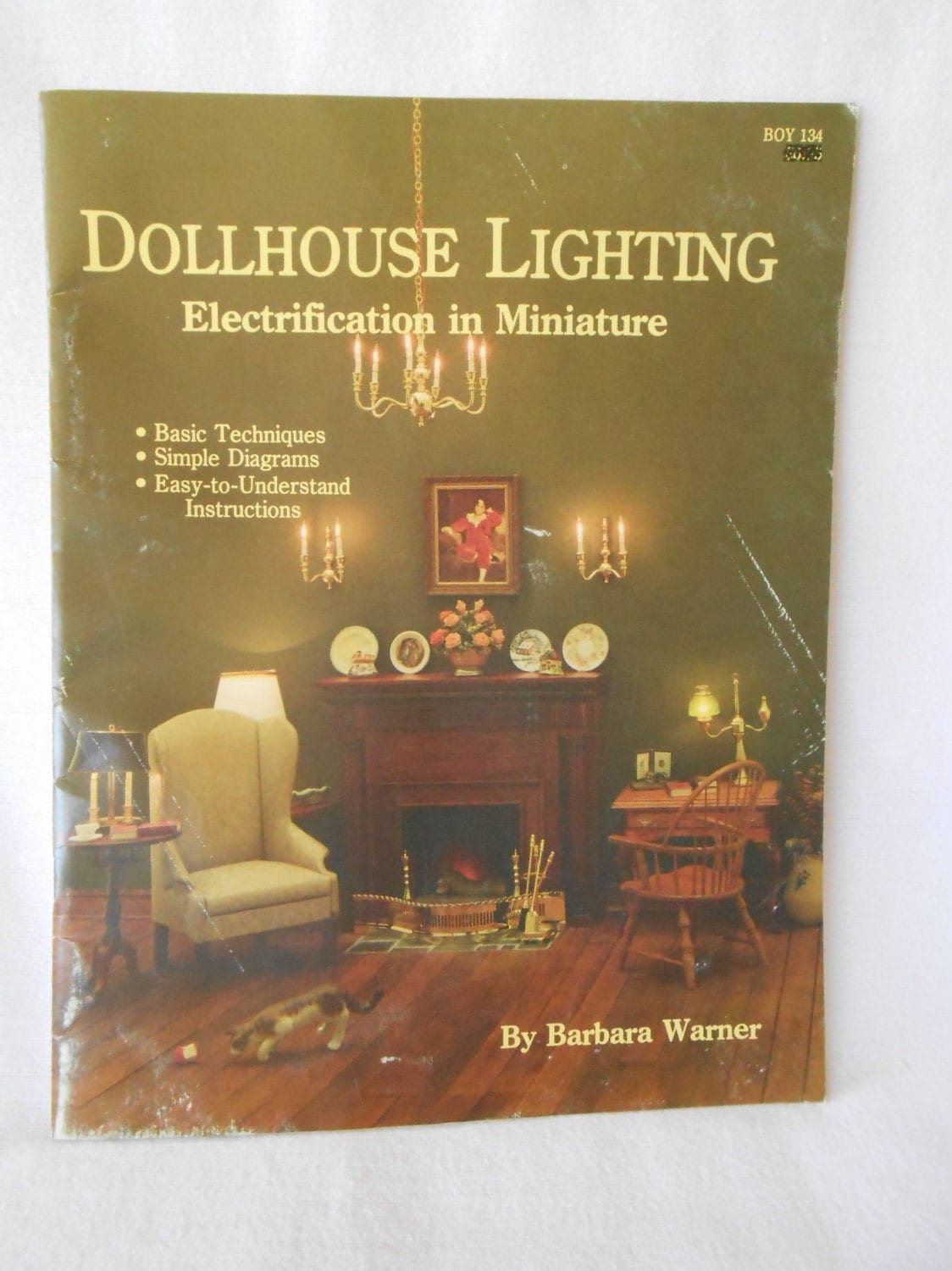 Dollhouse lighting electrification in miniature vintage
