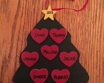 Handmade Personalized Tree Ornament