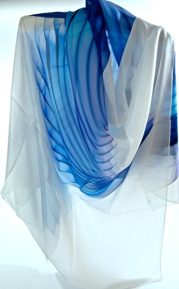 large square silk chiffon scarf wings series 4