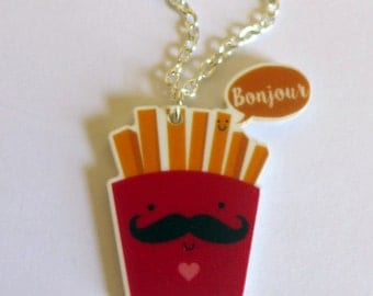 Summer Sale! French Fries necklace <3