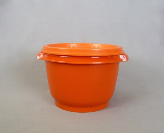 Small Orange Tupperware Bowl With Lid By Basicallybaca On Etsy