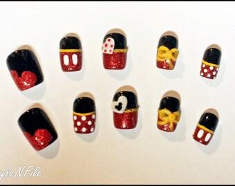 Disney's Mickey & Minnie Inspired Nails