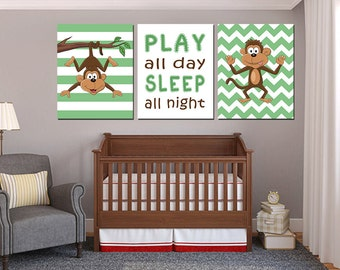 Monkey Bedroom Decor Monkey Nursery Decor Baby Boy Monkey Nursery Round Wood