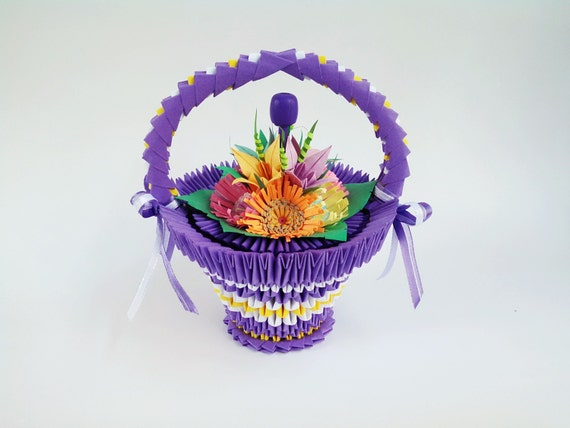 3d Origami Flower Basket 3d Origami Basket 3d Origami Basket - photo#31