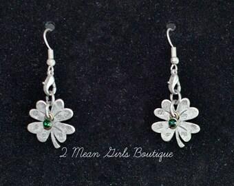 Shamrock Earrings, Luck of the Irish Earrings, Clover Earrings, Clover Jewelry, Shamrock Jewelry, Lucky Jewelry