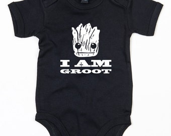 Guardians of the Galaxy I am Groot baby grow boy girl vest cute Avengers gift