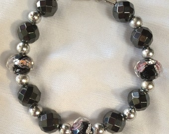 Onyx Rose Bracelet