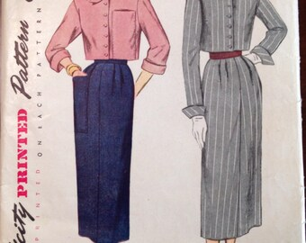 Simplicity 3087 - 1940s Crop Top with Bow Tie - Size 12 Bust 30