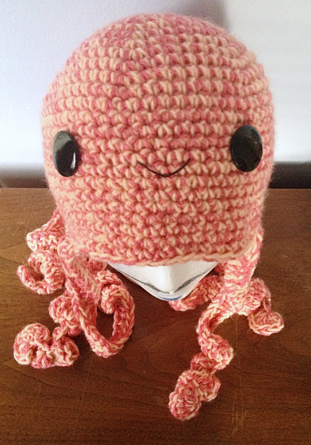 Crochet Octopus Hat : ALL SIZES Crochet Octopus Hat Olive Crochet by thewoollykraken