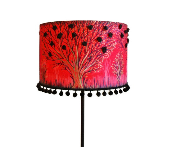 similar to red lamp shade hand painted drum lamp unique floor lamp. Black Bedroom Furniture Sets. Home Design Ideas