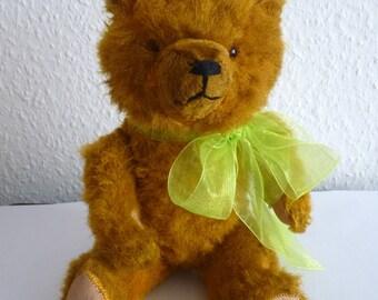 "Ancient approx. 30 cm/11.8 ""German Vintage Teddy bear 1950 bear art silk plush, wood-wool 4 joints"
