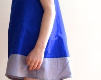 Colorblock Dress for girl-Handmade French childrens clothing
