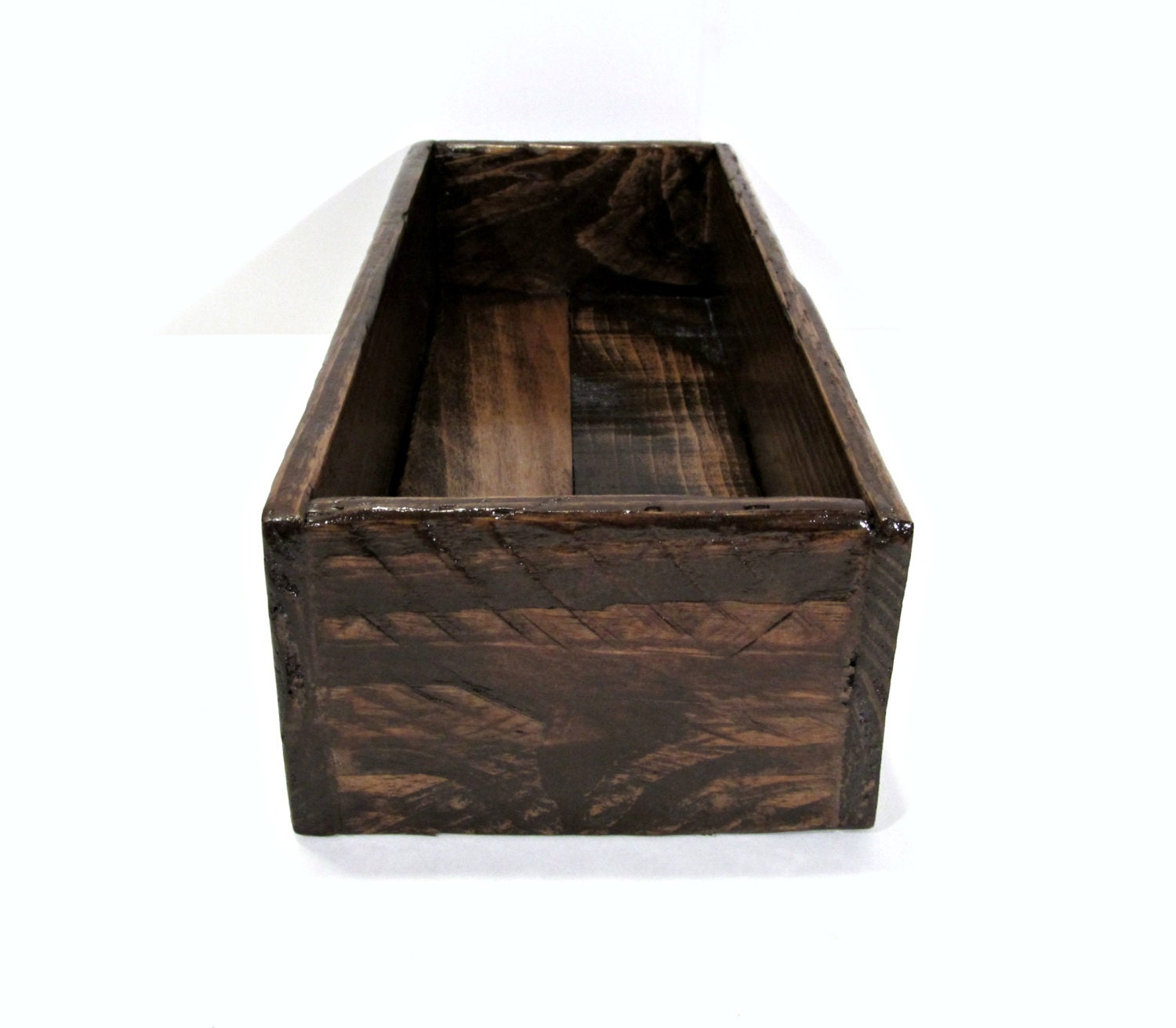 Rustic reclaimed pallet wood centerpiece box handmade wooden
