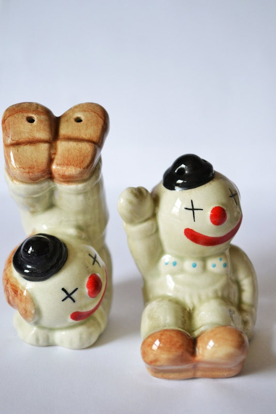 Items Similar To Clown Salt And Pepper Shaker Vintage