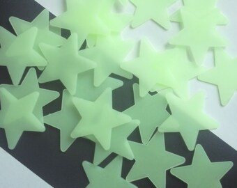 10 pieces Glow in the dark star cabochons decoden supplies uk cell phone supplies kawaii