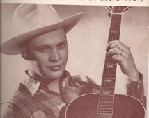 I Wish I Knew, Vintage Sheet Music, Recorded by Dolph Hewitt, Written by Sandy Oakton, Hill Billy Music, Country Song, Guitar Piano Music