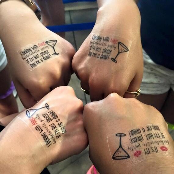 Custom bachelorette party temporary tattoos for Custom temp tattoos