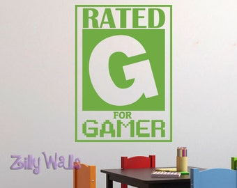 Kids Wall Decals | Gamer wall decal | Video Game Wall Decal | Removable Wall Sticker |