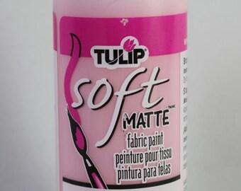 FABRIC PAINT Tulip Brand Soft Matte in Petal Pink (4 fl. oz.)