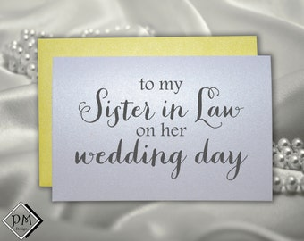 Wedding Shower Gifts For Sister In Law : Wedding card to new sister in law, for bridal shower cards sister ...