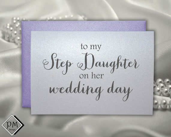 Wedding Gift To Step Daughter : Wedding card to step daughter, bridal shower cards for step daughter ...