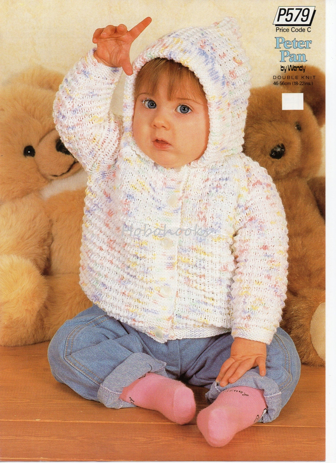 Knitting Pattern Hooded Jacket Toddler : Baby knitting pattern baby hooded jacket baby cardigan with