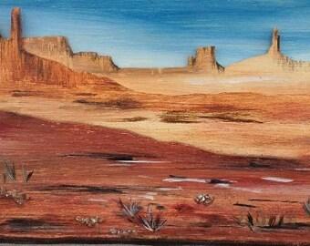 """relief on wood- acrilyc """"Arizona Dream"""""""