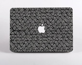 Hard Plastic Monochrome Triangle Pattern Macbook Case Design for MacBook Pro Retina Display and MacBook Air Case