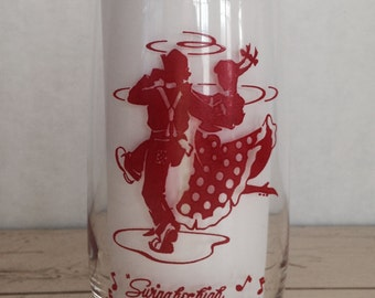 Vintage Square Dancing Swing High Swing Low Glass
