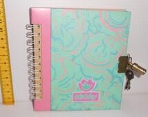 DEBBY 80s Malipiero italy vintage pocket secret diary with lock and key mint
