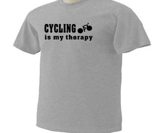 Cycling Is My Therapy Biker Cycle T-Shirt