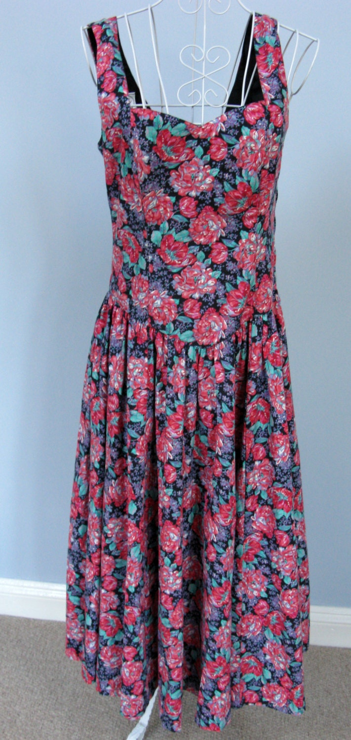 Laura Ashley Dress Vintage Clothing Retro Dresses 1950s