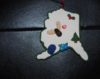 Alaska -State of Alaska Christmas ornament- SA1