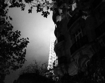 Eiffel Tower Photography, Paris Photography, Tour Eiffel Print, Black and White, Paris Decor, Perfect Gift, Fine Art Photography, Home Decor