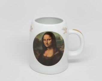 1970's PORCELAINE d' ART Limoges Creations Florence Mug, Made IN France