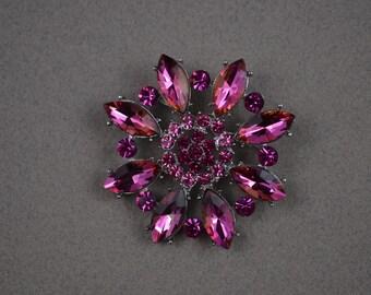 Pink Rhinestone Brooch. Wedding Accessories. Bridal Brooch Bouquet Supplies. Bridal Brooch. C203.