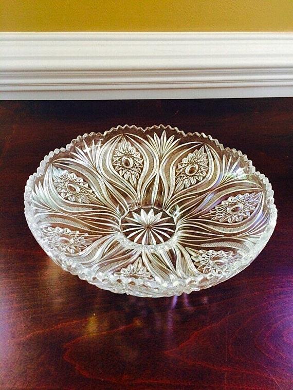 Items Similar To Nachtmann Crystal Bowl Table Centerpiece Dining Room Decor German Glass Housewarming Gift Bridal Shower Wedding