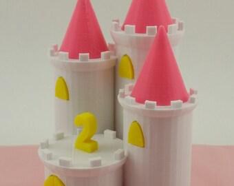 Castle cake topper keepsake