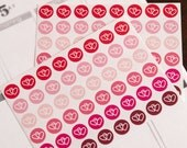 48 matte date stickers, going out stickers, life planner stickers, scrapbook reminder, date night stickers, valentine love stickers