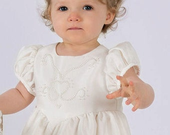 Silk Christening Gowns made in England, Amy by Okika