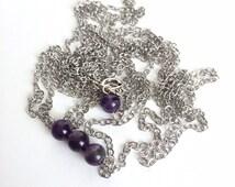 Amethyst Bead Body Chain